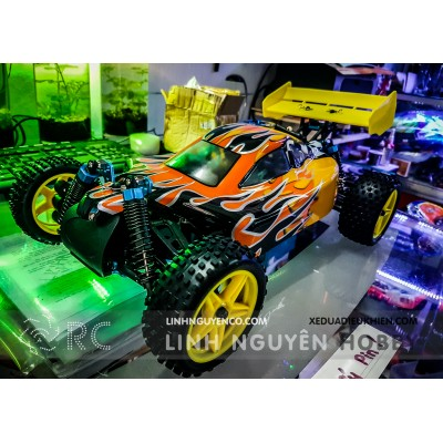 HiSpeed 2166 Buggy xăng máy 18 - 2 số -  Backwash 2 Speed Nitro RC Buggy - Nguyên Bộ Kit & Xăng