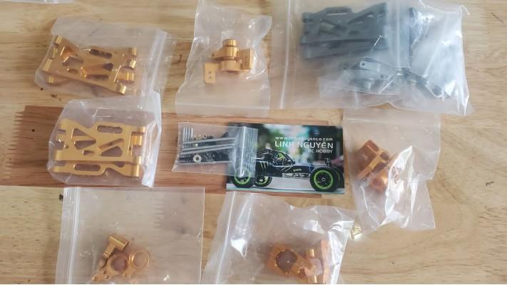 Bộ arm hub nhôm kim loại nâng cấp cho xe đua WL 1401 WL 1219 Wltoys 144001 124018 124019