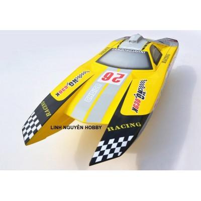 DT Racing Catamaran LAMBO Body Sợi Thủy Tinh Máy 30CC Chạy Xăng 95 pha nhớt