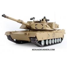 TANK M1A2 - Xe tăng điều khiển từ xa U.S.M1A2 ABRAMS MBT - XÍCH KIM LOẠI - tỉ lệ 1/16