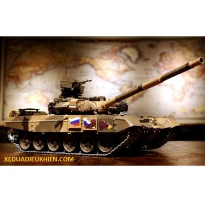 TANK T90 - Xe tăng điều khiển từ xa T90 RUSSIAN MBT - XÍCH KIM LOẠI - tỉ lệ 1/16