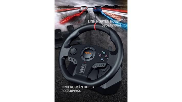 BỘ VÔ LĂNG VÀ CHÂN GA PNX9 - 900 ĐỘ - CHƠI GAME ĐUA XE - XBOX - PLAYSTATION - PC
