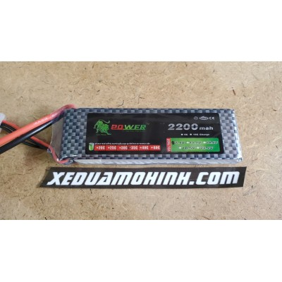 PIN LIPO 2S 7.4V 2200MAH 35C LION POWER CHO XE TỈ LỆ 1/12 1/10