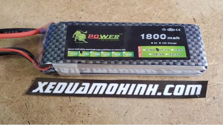 PIN LIPO 3S 11V 1800MAH 35C LION POWER CHO CANO FT 012 xe 1/10 1/12