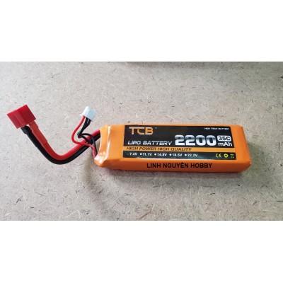 PIN LIPO 2S 7.4V 2200MAH 35C CHO XE TỈ LỆ 1/12 1/10