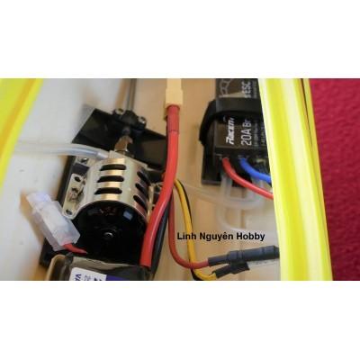 VLT Vector 65cm RC4 RTR tốc độ 55KM / h - Combo nâng cấp remote RC4 sóng mạnh - Thuyền RC tốc độ cao brushless