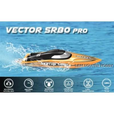 VLT Vector 80 RC4 PRO RTR 70KM / h Thuyền RC tốc độ cao full kim loại kèm remote RC4 sóng tốt