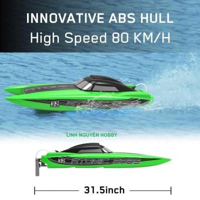 VLT ATOM 85 PRO RTR 80KM / h Thuyền RC tốc độ cao không chổi than - dàn lái kim loại