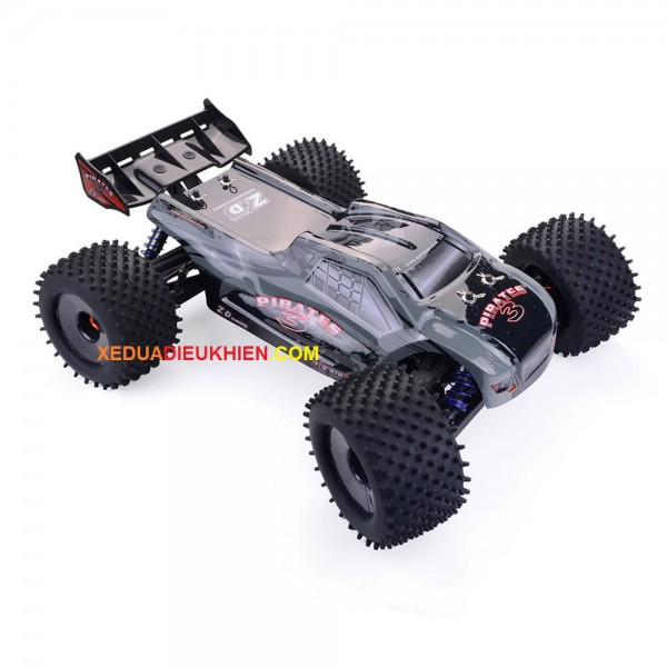 ZD Hobby RC TRUGGY PIRATES V3 1/8 - Bánh Gai - RC Off-Road Truggy RTR 80km - Sườn Nhôm