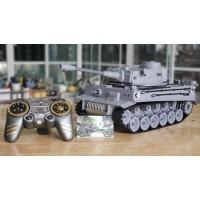 Tiger Panzer - Xe tăng điều khiển từ xa Tiger đức bánh xích & bắn đạn & khói - tỉ lệ 1/18
